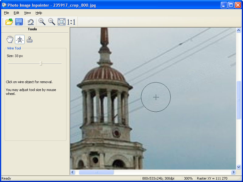 Click to view Photo Image Inpainter 1.00 screenshot