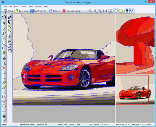 Vectorization results
