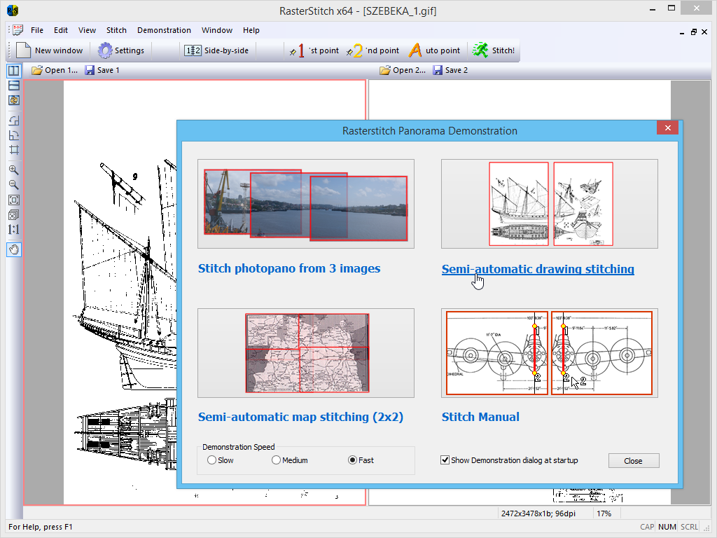 RasterStitch Panorama - Image Stitching and Panorama Creation Software